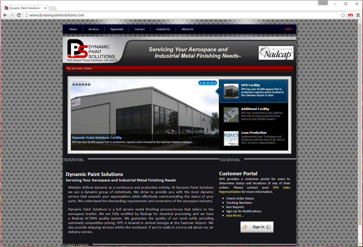 Dynamic Paint Solutions site